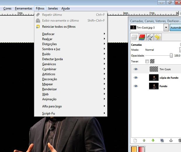 Filtros do GIMP (Foto: Reprodução/TechTudo)