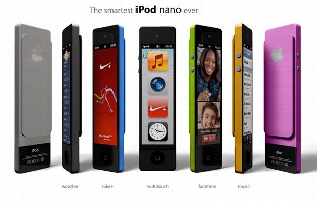 Conceito do iPod Nano Touch (Foto: Enrico Penello/Yanko Design)