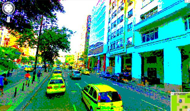 Street View Versão 8 Bits (Foto: Reprodução)
