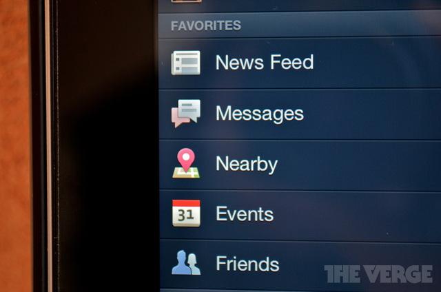 Aplicativo do Facebook ganha atualização para novo iPad (Foto: Reprodução/The Verge)