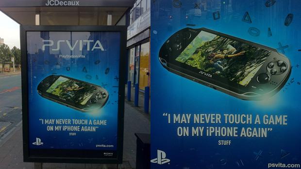 Propaganda do PS Vita ataca diretamente o iPhone (Foto: Create Sand)