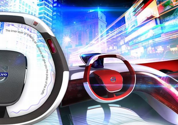 Volante conceitual usa do tato para alertar motorista nas estradas (Foto: Reprodução/Yanko Design)