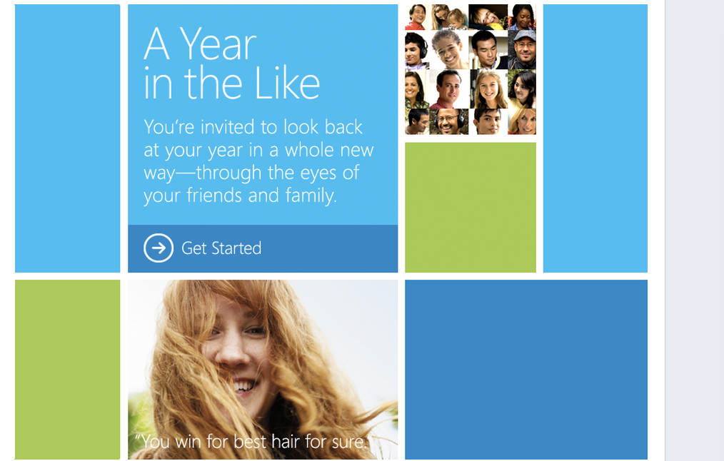 A Year in the Like, aplicativo da Microsoft no Facebook (Foto: Reprodução)