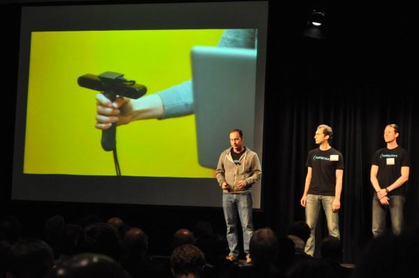 Criadores do Matterport apresentam o produto em palestra (Foto: Divulgação)