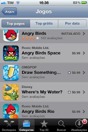 Jogos na App Store pelo iPhone (Foto: Reprodução/Bruno do Amaral)
