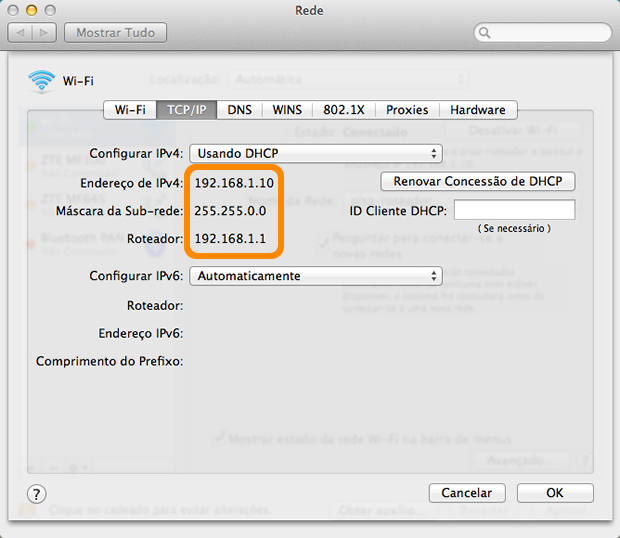 how to find the ip address on macbook air
