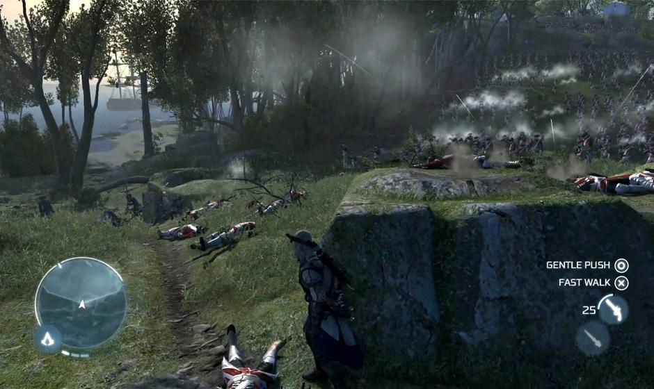 Fotos vazadas da PAX East 2012 mostram Assassin's Creed 3 em ação (Foto: Gematsu)