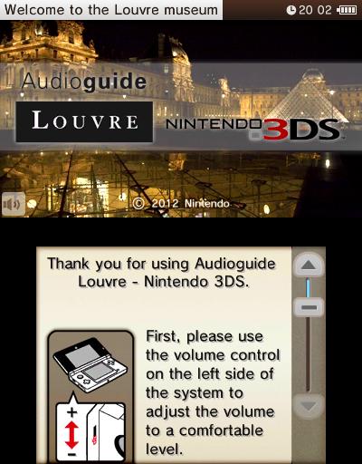 Audioguide Louvre - Nintendo 3DS (Foto: Divulgação)