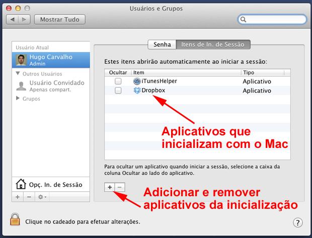 Para adicionar mais itens, basta clicar no botão + (Foto: Reprodução/Hugo Carvalho)