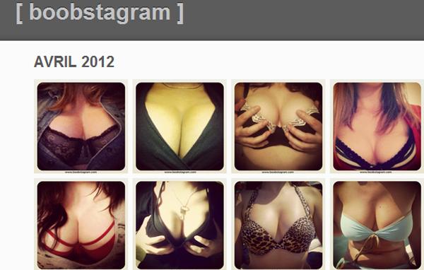 Boobstagram reúne fotos de seios publicadas no Instagram (Foto: Reprodução)