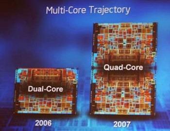 Existem outros modelos de processadores com núcleos múltiplos, como o dual-core (Foto: Reprodução)