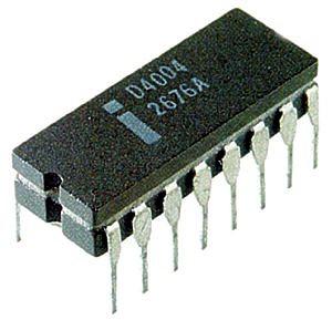 O processador intel 4004 foi o primeiro microprocessador do mercado (Foto: Reprodução)