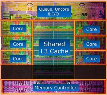 Os processadores  i7 da nova linha Sandy Bridge (foto acima) e da  antiga, Nehalem,  são também quad-cores (Foto: Reprodução)