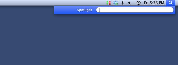Interface do SpotLight (Foto: Reprodução/Hugo Carvalho)