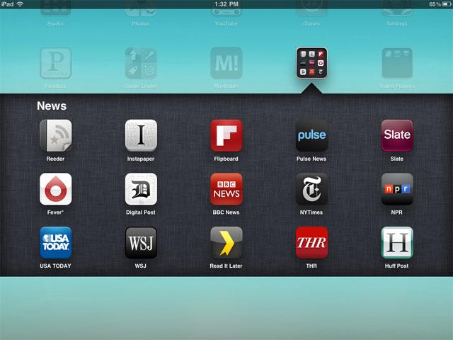 Divisão de pastas no iOS (Foto: Reprodução/Mashable)
