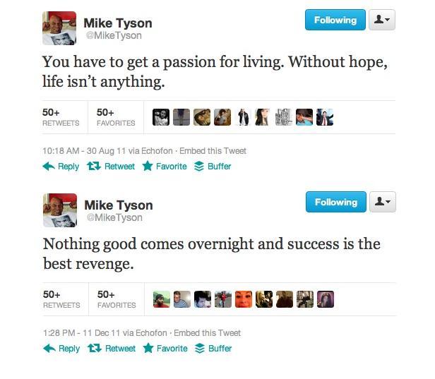 O lutador posta tweets com mensagens motivacionais aos seus seguidores (Foto: Reprodução)