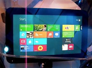Tablets com processadores da Intel chegarão ao mercado na companhia do Windows 8 (Foto: Reprodução/Cnet)