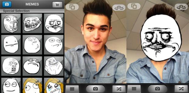 Memefied coloca pessoa com rosto de meme no iPhone (Foto: Reprodução)