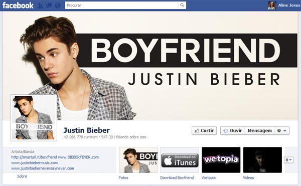 No Facebook, páginas de bandas ganham a opção de ouvir playlists (Foto: Reprodução)