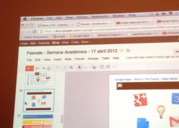 Apresentação com o Google Drive (Foto: Ricardo Marzotto) (Foto: Apresentação com o Google Drive (Foto: Ricardo Marzotto))
