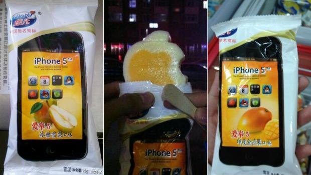 iPhone 5 chegou à China em formato de sorvete (Foto: Reprodução)