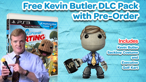 Kevin Butler ser&#225; b&#244;nus de pr&#233;-venda de LittleBigPlanet Karting (Foto: Reprodu&#231;&#227;o: Rafael Monteiro)