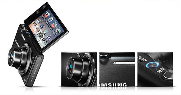 Modelo V800, da Samsung: Tela que gira 180º e 16.1 megapixels (Foto: Divulgação)