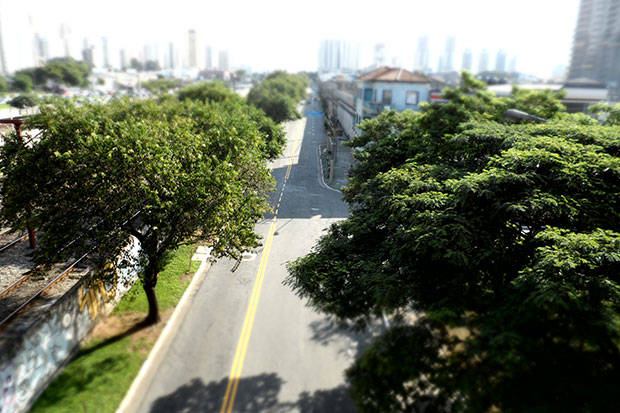 Seguindo a onda do Instagram, modelo MV800 tem efeito Tilt Shift integrado (Foto: Victor Vasques)