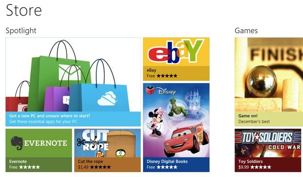 Windows Store terá versão em português em breve (Foto: Reprodução)