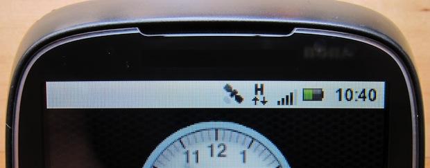 Imagem de celular Android conectado com HSPA (Reprodução / OpenAttitude).