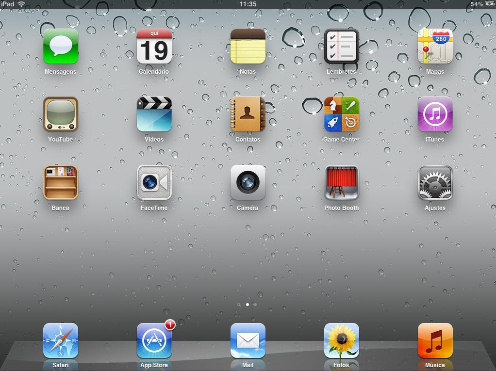 Tela do iPad (Foto: Reprodução)