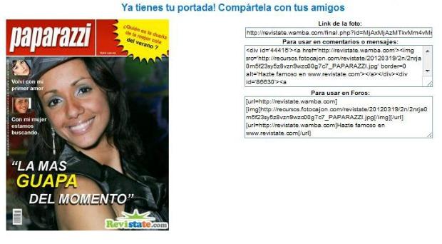 Salve capa de uma revista e copie o link para compartilhar a imagem (Foto: Aline Jesus/Reprodução)