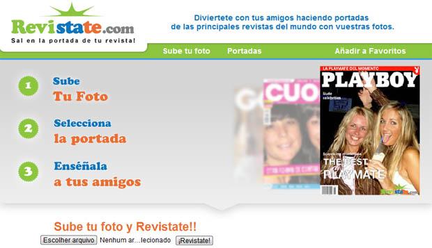 Escolhendo foto para a capa de sua revista (Foto: Aline Jesus/Reprodução)