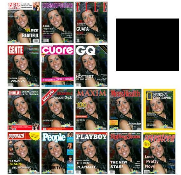 Opções de capas que o site Revistate oferece (Foto: Aline Jesus/Reprodução)