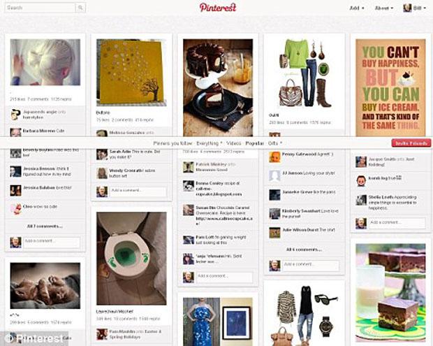 Apesar dos acessos terem diminuído, estudo mostra que o Pinterest tem mais acessos que o LinkedIn, Tumblr e Google+ (Foto: Reprodução)