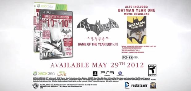Anúncio de Batman: Arkham City - Game of the Year Edition (Foto: Divulgação)