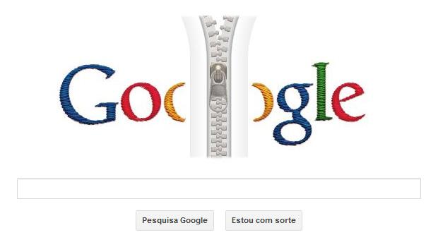 Doodle animado comemora os 132 anos de nascimento do inventor do zíper (Foto: Reprodução/Google)