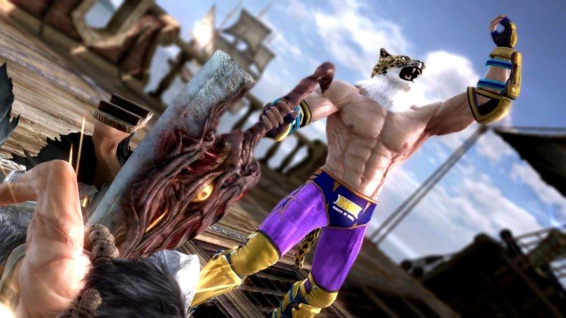 King, de Tekken, recriado em SoulCalibur V (Foto: Divulgação)