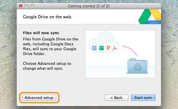 Informação sobre a sincronização do Google Drive (Foto: Reprodução / Pedro Pisa)