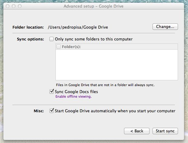 Configurações do Google Drive (Foto: Reprodução / Pedro Pisa)