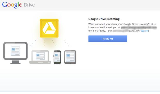 Notificação para utilizar o Google Drive (Foto: Reprodução / Pedro Pisa)