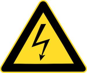 Símbolo de aviso para representar alta tensão (Foto: Reprodução / Wikipedia)