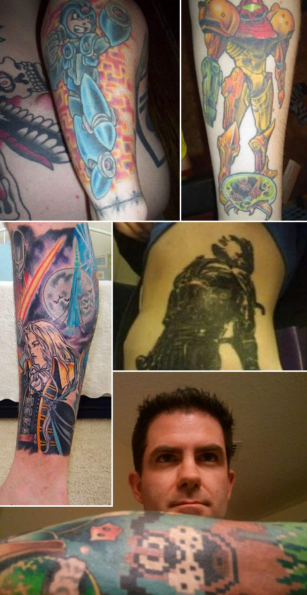 Tatoo gamer (Foto: Geeky Tatoos, High Score Society e Project CR)