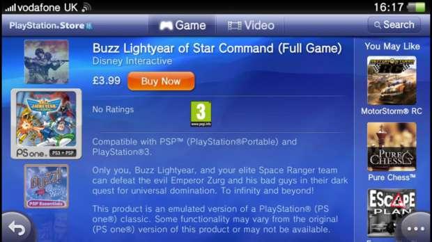 Jogo de PS One vendido na loja do PS Vita (Foto: CVG)