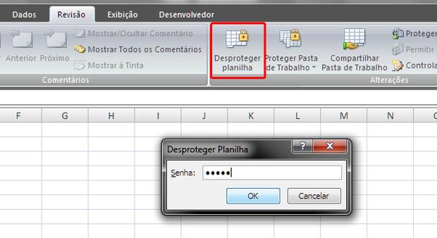 Desproteger planilha do Excel