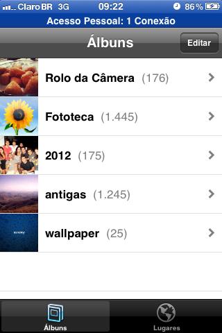 Fotos salvas no iPhone (Foto: Reprodução/Guilherme Godin)