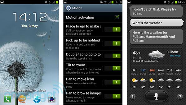 Interface TouchWiz no Galaxy S III (Foto: Reprodução)
