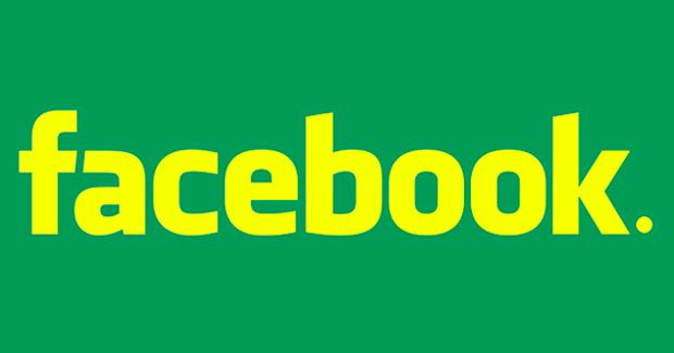 Logo do Facebook com as cores da bandeira do Brasil (Foto: Reprodução)