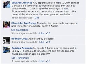 Comentários no Facebook (Foto: TechTudo)