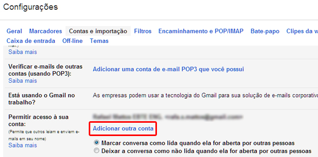 Permitindo o acesso de outra pessoa a uma conta do Gmail